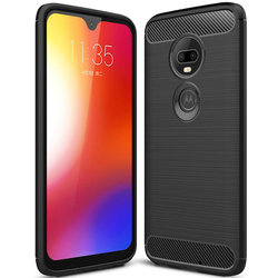 Husa Motorola Moto G7 Plus TPU Carbon Negru