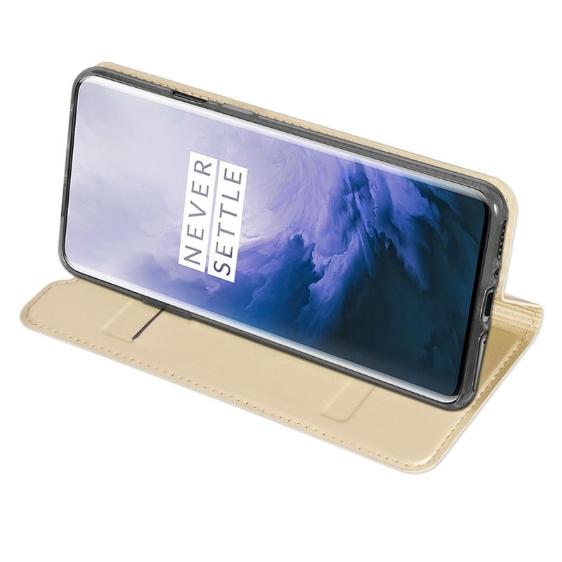 Husa OnePlus 7 Pro Dux Ducis Flip Stand Book - Auriu