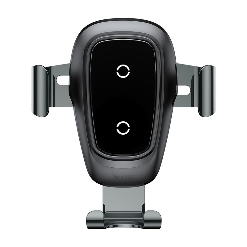 Suport Auto Cu Functie De Incarcare Wireless Baseus Metal Gravity Air Vent + Cablu Micro USB - Negru