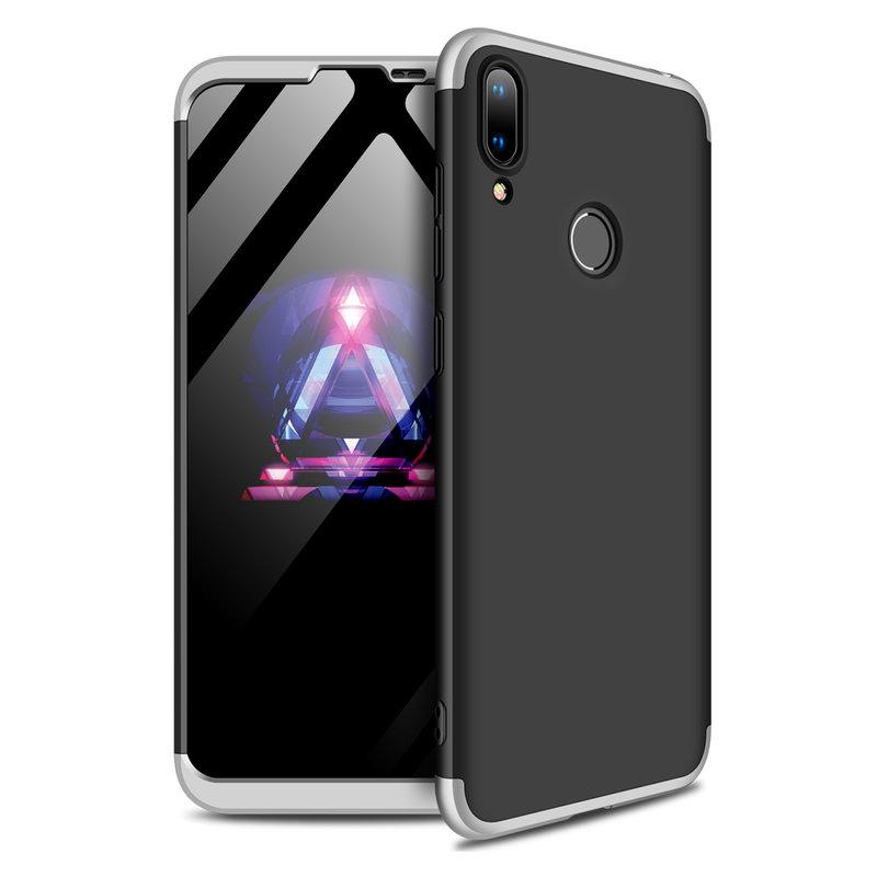Husa Huawei Y7 2019 GKK 360 Full Cover Negru-Argintiu