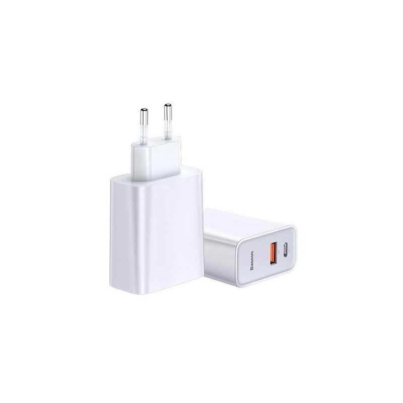 Incarcator Priza Baseus Speed PPS USB / Type-C Quick Charge 3.0, 30W 4.5A - Alb CCFS-C02