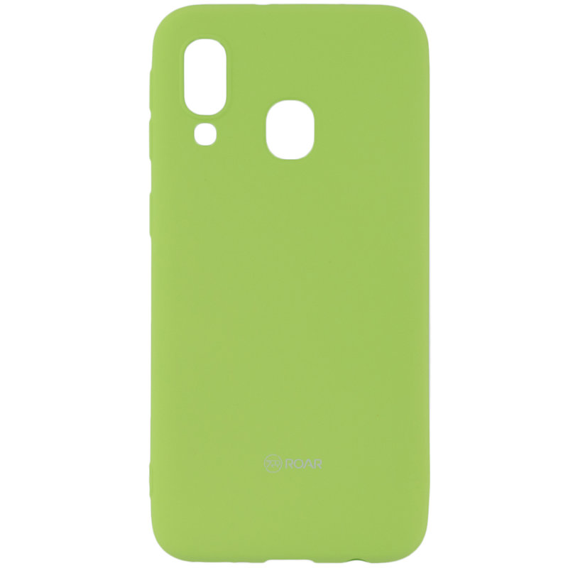 Husa Samsung Galaxy A40 Roar Colorful Jelly Case - Verde Mat