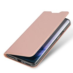 Husa LG G8 ThinQ Dux Ducis Flip Stand Book - Roz