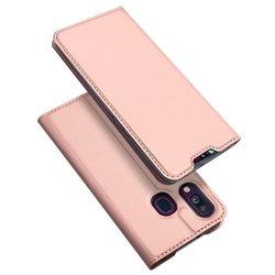 Husa Samsung Galaxy A40 Dux Ducis Flip Stand Book - Roz