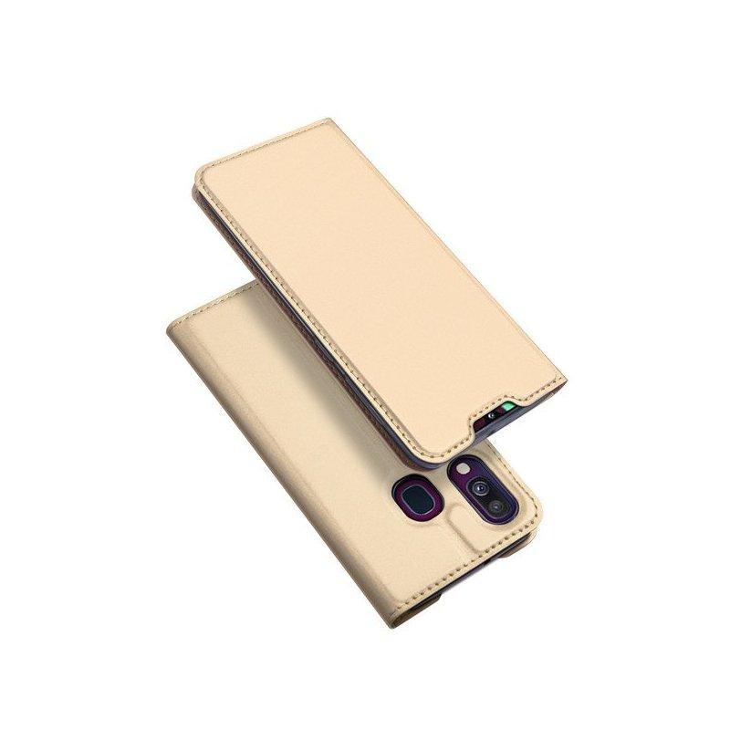 Husa Samsung Galaxy A40 Dux Ducis Flip Stand Book - Auriu