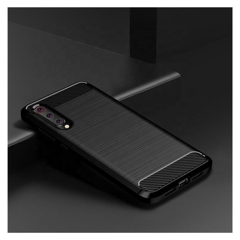 Husa Xiaomi Mi 9 TPU Carbon Albastru