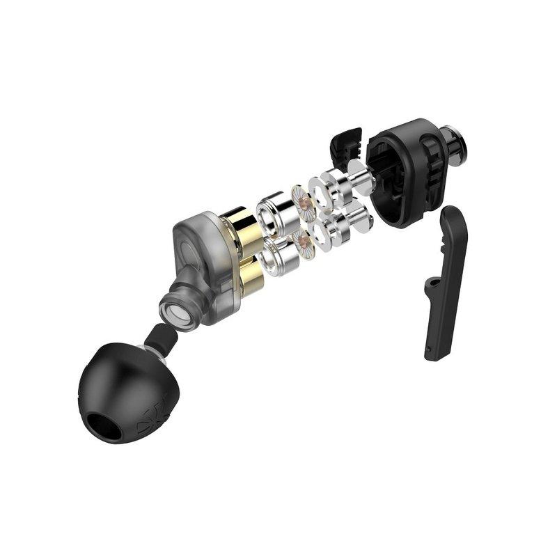 Casti In-Ear Cu Microfon UiiSii Tuddrom Dual Dynamic Drivers BA-T6 Hi-Res - Negru