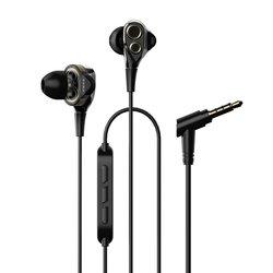 Casti In-Ear Cu Microfon UiiSii Dual Dynamic Drivers BA-T8 Hi-Res - Negru