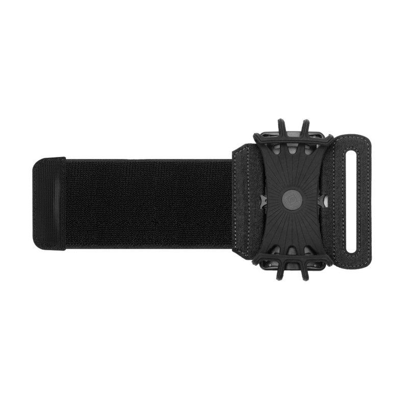 Husa Alergare Brat, Jogging Sport Wrist Case, Pentru Telefon, Unghi Ajustabil 180° - Negru