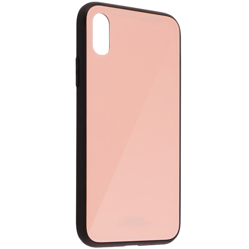 Husa iPhone XS Glass Series - Roz