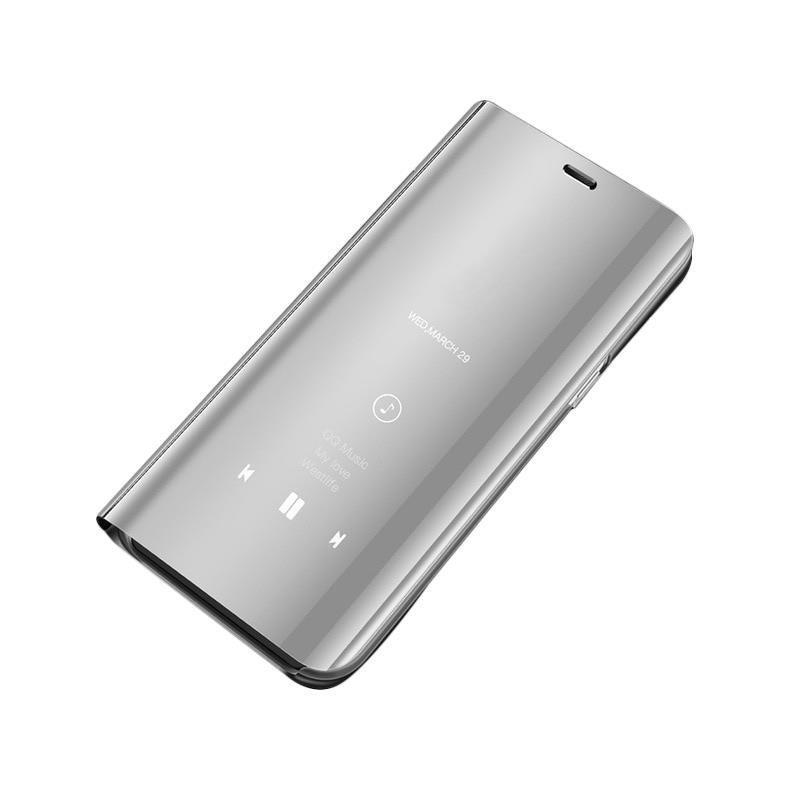 Husa Xiaomi Redmi Note 7 Flip Standing Cover - Silver