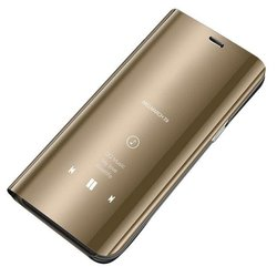 Husa Xiaomi Redmi Note 7 Flip Standing Cover - Gold