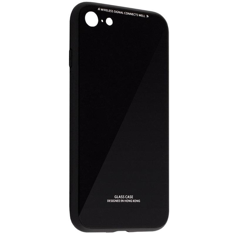 Husa iPhone 6, 6S Glass Series - Negru