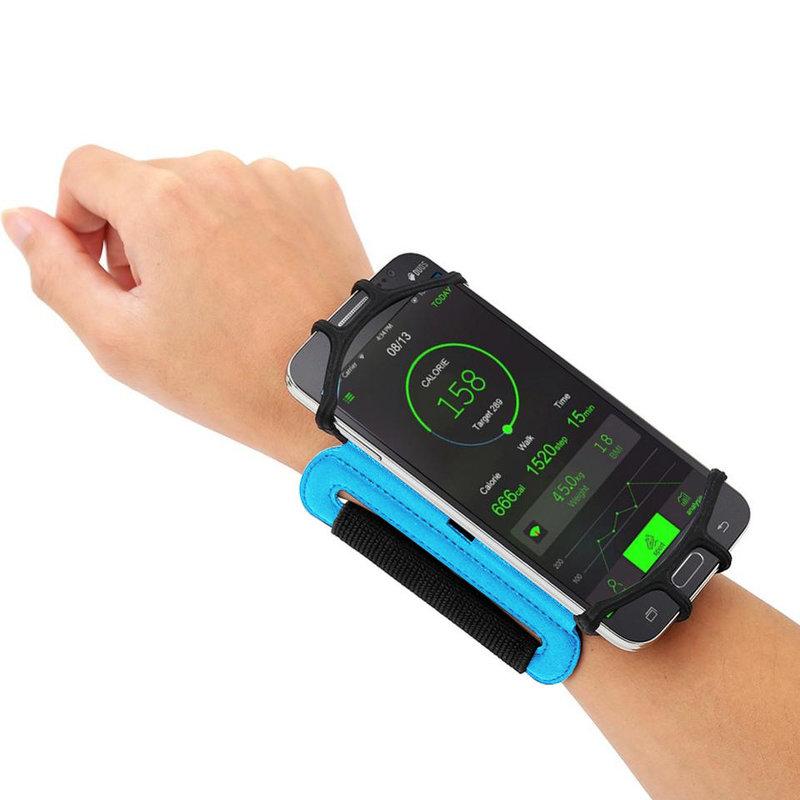 Husa Alergare Brat, Jogging Sport Wrist Case, Pentru Telefon, Unghi Ajustabil 180° - Albastru