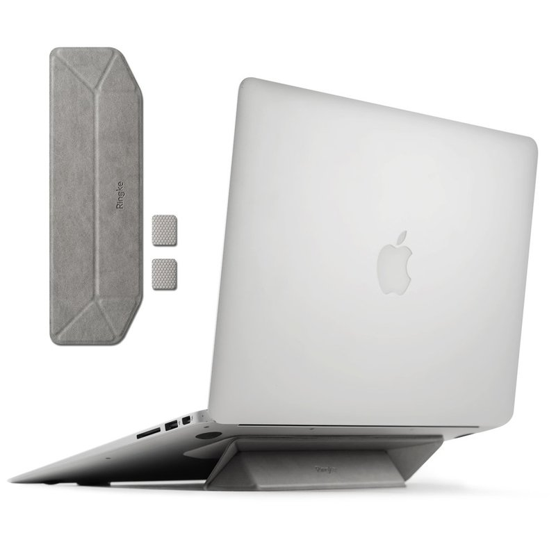 Suport Stand Pliabil Pentru Laptop, MacBook, NoteBook Ringke Autoadeziv - Gri