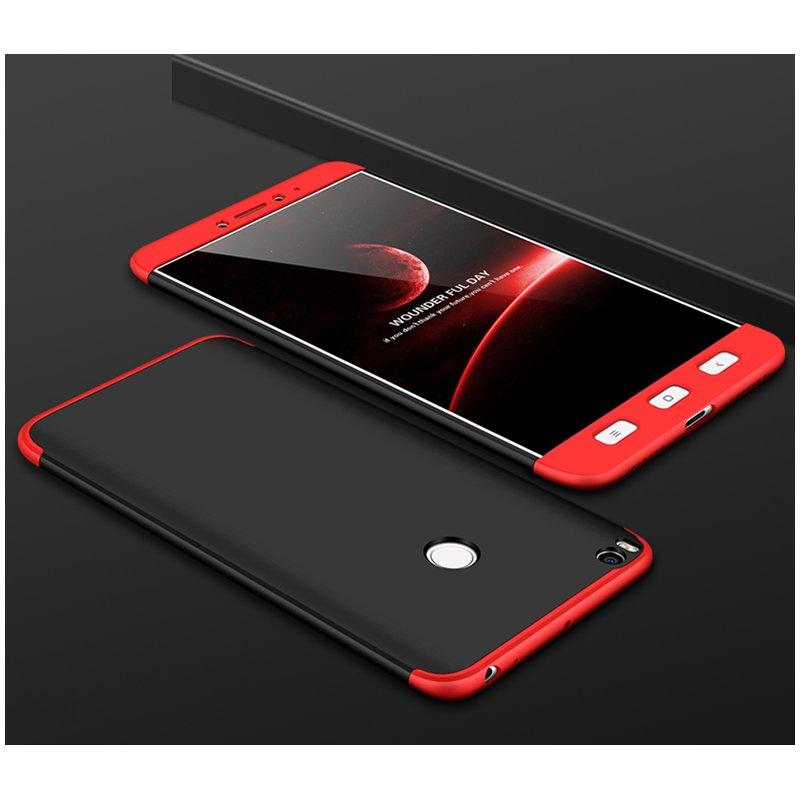 Husa Xiaomi Mi Max 2 GKK 360 Full Cover Negru-Rosu