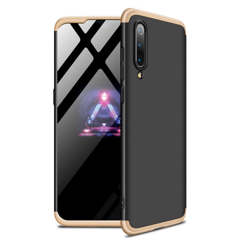 Husa Xiaomi Mi 9 GKK 360 Full Cover Negru-Auriu
