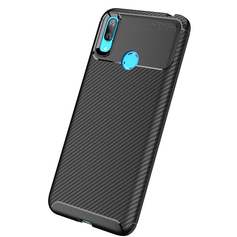 Husa Huawei Y7 2019 Mobster Carbon Skin Negru