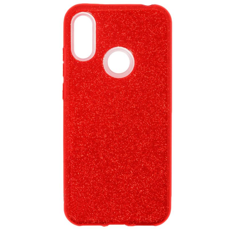 Husa Huawei Y6 2019 Silicon Wozinsky Glitter - Red