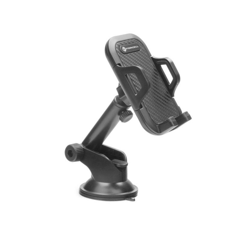 Suport Auto Telefon Forcell Bracket, 9.5cm Deschidere  - Negru