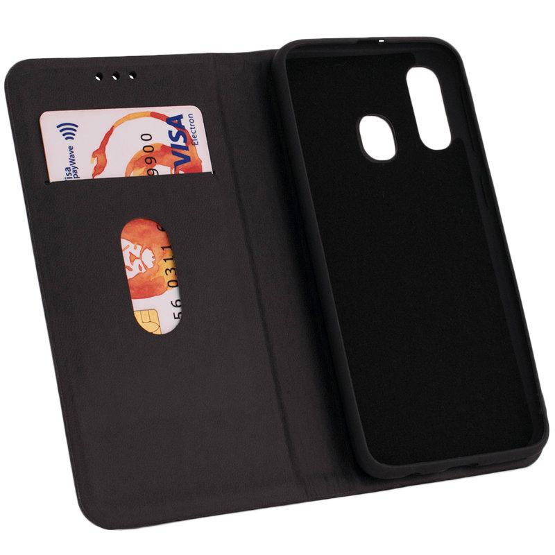 Husa Samsung Galaxy A40 Forcell Silk Wallet - Black