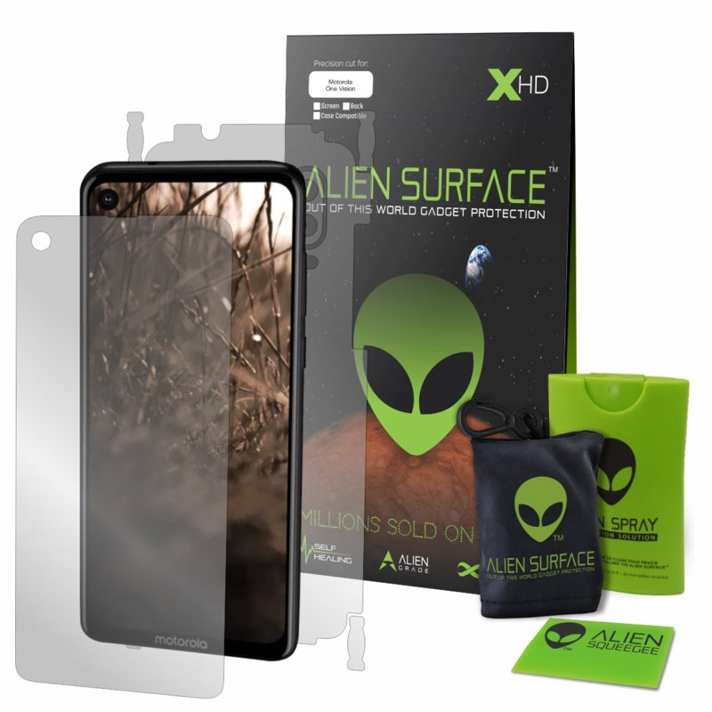 Folie 360° Motorola One Vision Alien Surface XHD, Ecran, Spate, Laterale - Clear