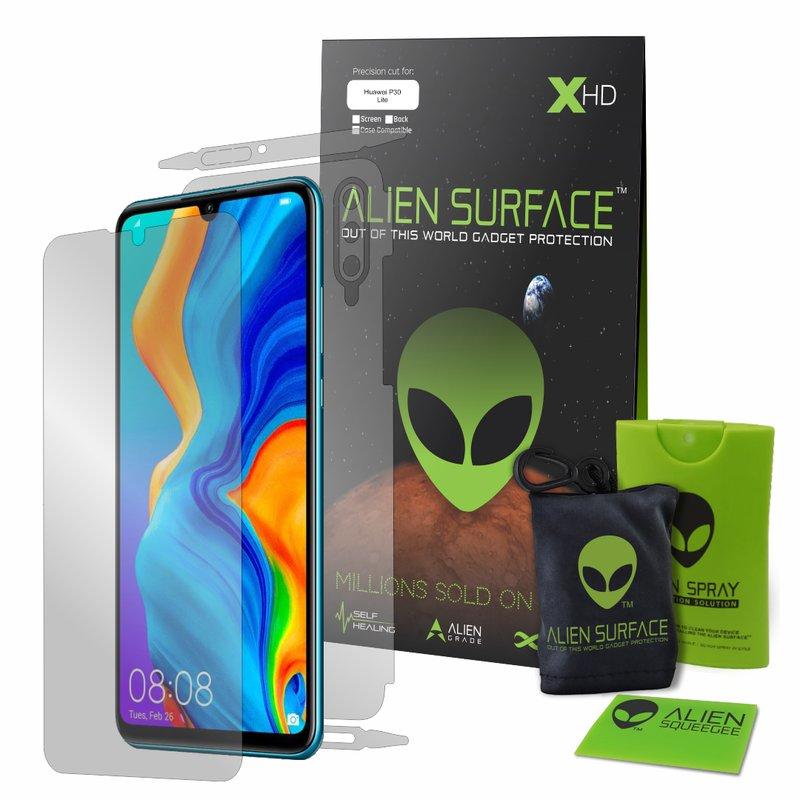 Folie 360° Huawei P30 Lite Alien Surface XHD, Ecran, Spate, Laterale - Clear