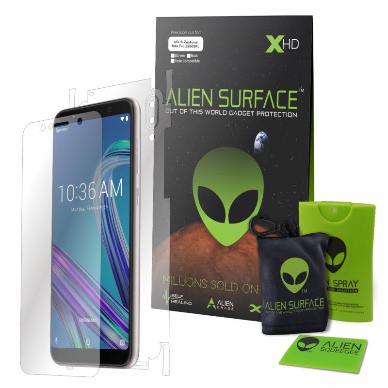 Folie 360° Asus Zenfone Max Pro (M1) ZB601KL Alien Surface XHD, Ecran, Spate, Laterale - Clear