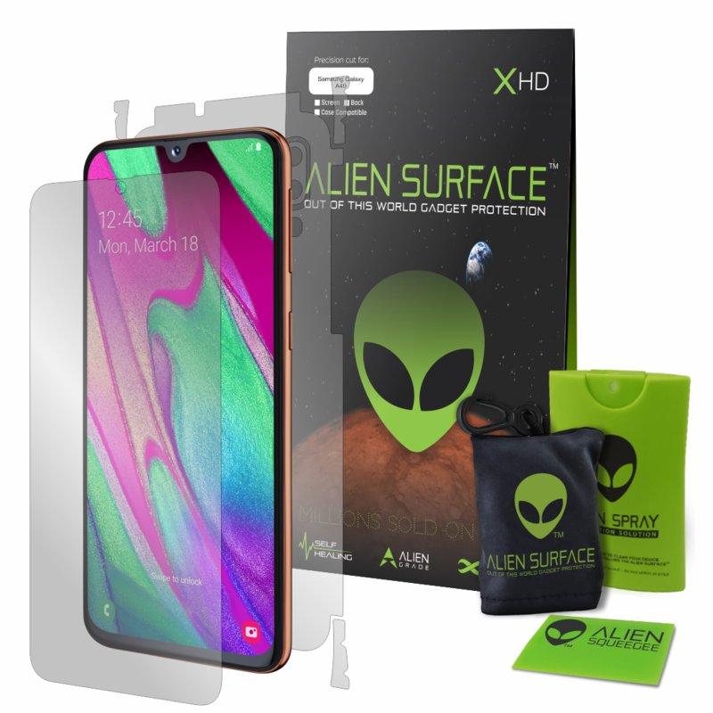 Folie 360° Samsung Galaxy A40 Alien Surface XHD, Ecran, Spate, Laterale - Clear