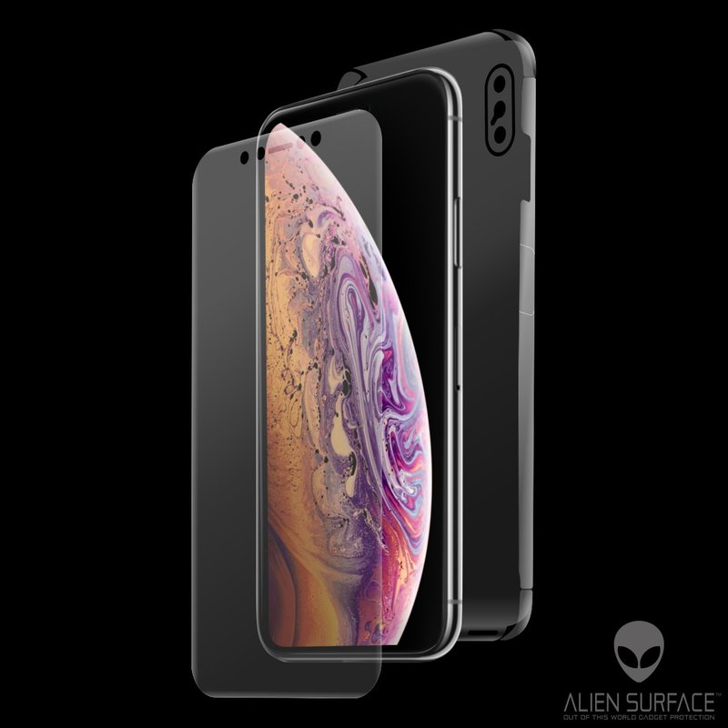 Folie 360° iPhone XS Alien Surface XHD, Ecran, Spate, Laterale - Clear