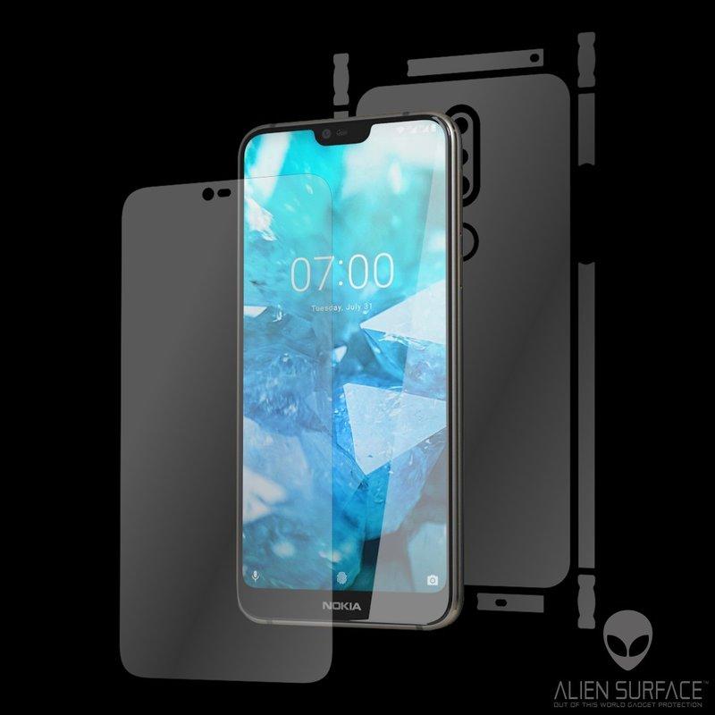 Folie 360° Nokia 7.1 Alien Surface XHD, Ecran, Spate, Laterale - Clear