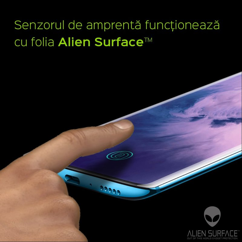 Folie 360° OnePlus 7 Pro Alien Surface XHD, Ecran, Spate, Laterale - Clear