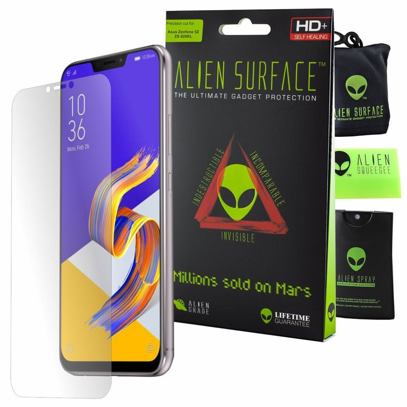 Folie Regenerabila ASUS Zenfone 5z ZS620KL Alien Surface XHD, Case Friendly - Clear