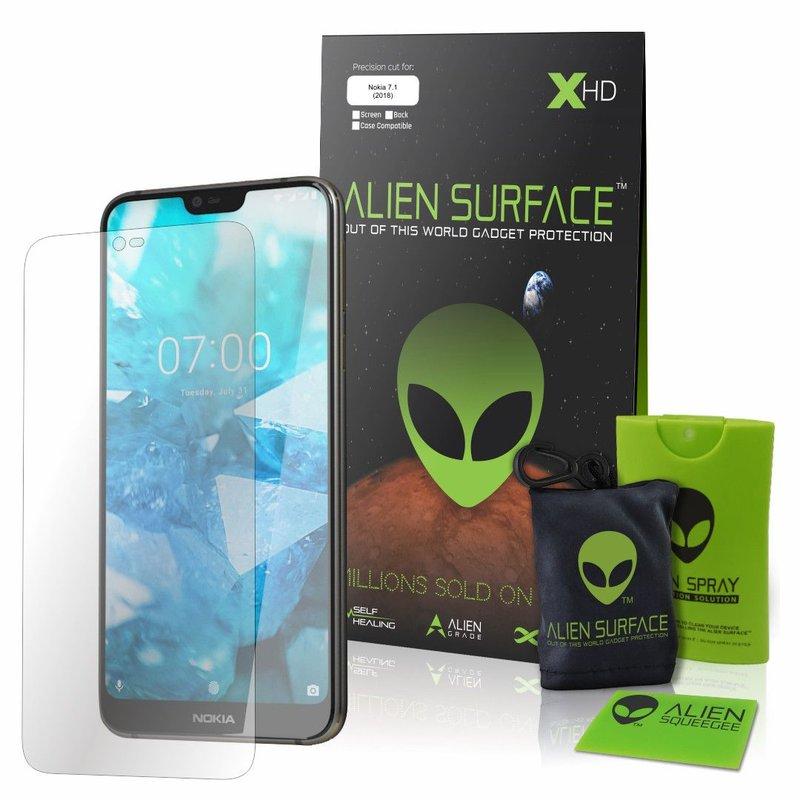 Folie Regenerabila Nokia 7.1 Alien Surface XHD, Case Friendly - Clear