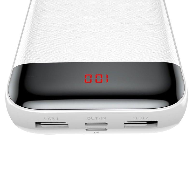 Baterie Externa Baseus Mini Quick Charge 2xUSB 1xType-C 1x Lightning 20000 mAh - PPALL-CKU02 - White