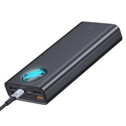 Baterie Externa 30000 mAh Baseus Amblight Quick Charge Cu 7 Porturi (PD3.0+QC3.0) 33W - Negru