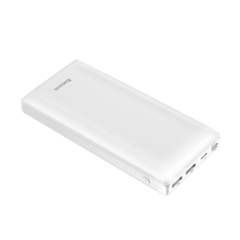 Baterie Externa 30000 mAh Baseus Mini JA Quick Charge (USB, USB-C, Lightning, MicroUSB) 15W - Alb