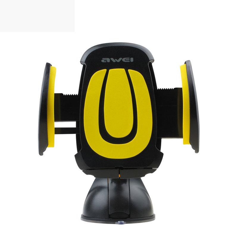 Suport Auto Telefon (4 - 7 inch) Awei X7 cu Ventuza  - Negru