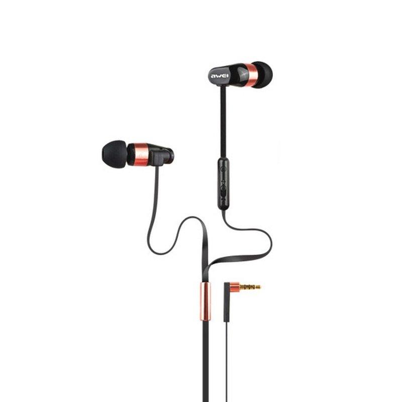 Casti In-Ear Cu Microfon Awei Dual Symphonic ES12HI - Negru