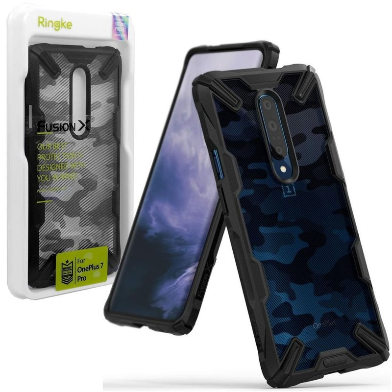 Husa OnePlus 7 Pro Ringke Fusion X Design - Camo Black