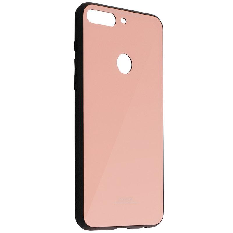 Husa Huawei Y7 Prime 2018 Glass Series - Roz