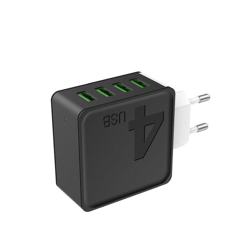 Incarcator Priza 4xPorturi USB Awei C842  5V/4A - Negru