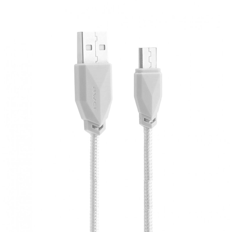 Cablu de date Awei CL-982 Micro-USB Fast Data / Charge – Alb