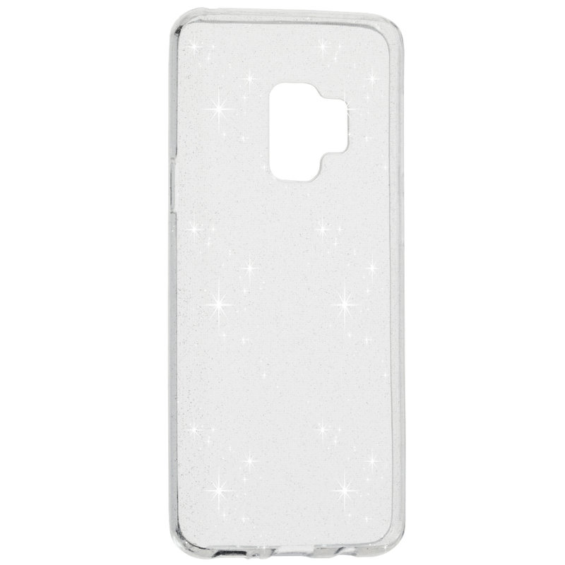 Husa Samsung Galaxy S9 Silicon Crystal Glitter Case - Transparent