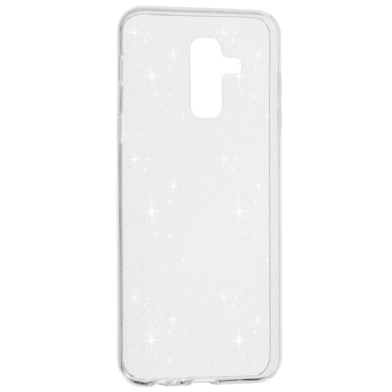 Husa Samsung Galaxy A6 Plus 2018 Silicon Crystal Glitter Case - Transparent