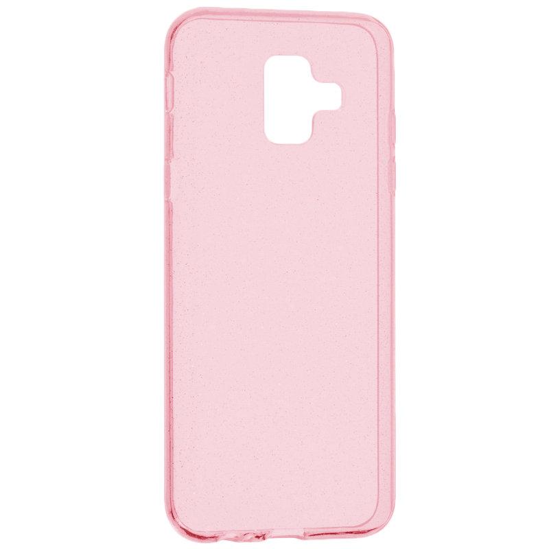 Husa Samsung Galaxy A6 2018 Silicon Crystal Glitter Case - Roz