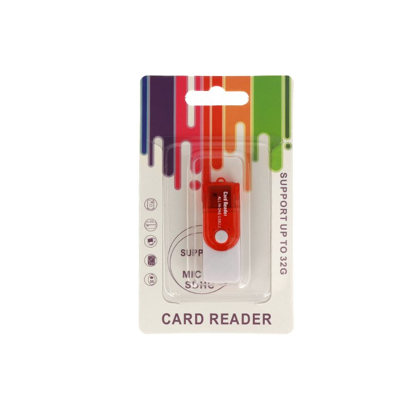 Card Reader All in OneUSB 2.0 - Rosu