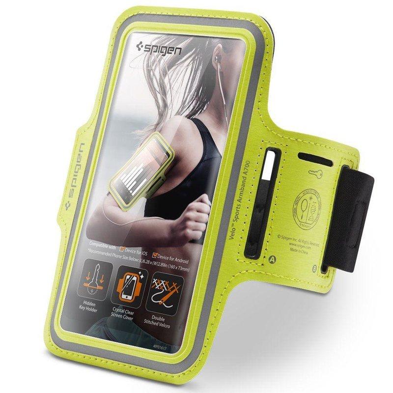 Husa Alergare Pentru Telefon, Spigen Sports Armband A700 - Verde