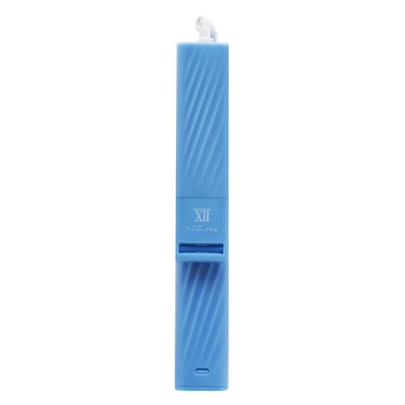 Selfie Stick Mini Lightning Cu Buton Declansator - Blue