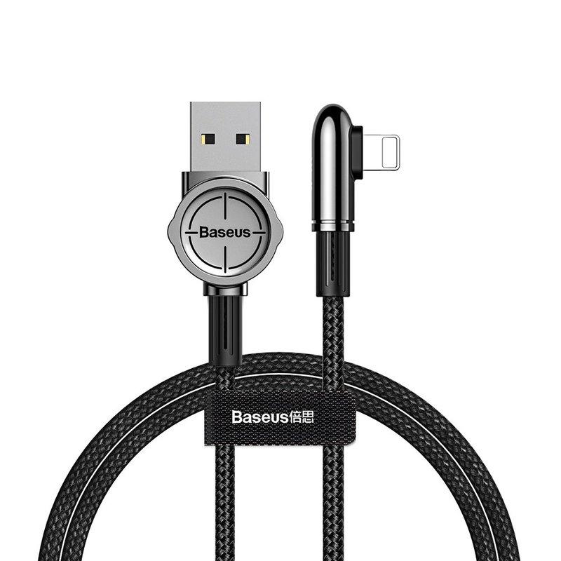 Cablu de date Baseus USB for Lightning Exciting Mobile Game 2.4 A - Black